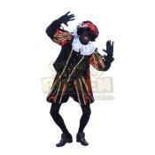 Piet Polyester Granada Luxe Zwart-Rood