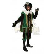 Pietenkostuum Fluweel Spanje Groen-Zwart