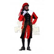 Piet Polyester A Rood-Zwart