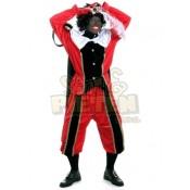Piet polyesterfluweel rood