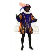 Piet Polyester Granada Luxe Blauw-Oranje