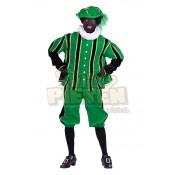 Piet Pak Fluweel San Fernando Groen-Zwart