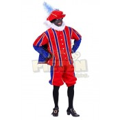 Piet Pak Fluweel San Fernando Blauw-Rood