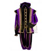 Pietenpak Toledo Paars-Zwart met cape