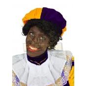Zwarte Pietenbaret Fluweel