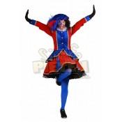 Zwarte Piet Dame Madrid Rood-Blauw