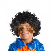 zwarte kinder pietenpruik met krullen