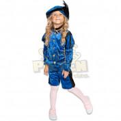 blauw pietenpakje voor kinderen