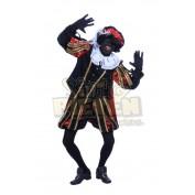 imitatie fluweel zwarte piet rood