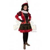 Piet jurkje met petticoat rood zwart