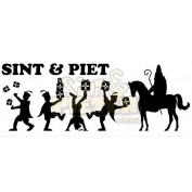 Raamsticker Sint en Piet