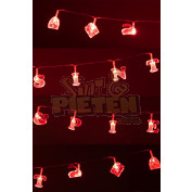 Letterslinger Sint en Piet met licht 2.10m