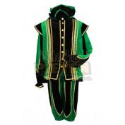 Roetveeg Pietenpak Toledo Groen zwart