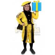 Pietenpak kinderen met cape geel-zwart