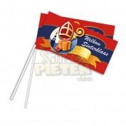 Sint en Piet Zwaaivlaggen Rood 50 stuks